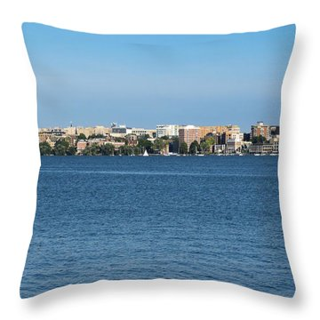 Madison Skyline From Picnic Point Throw Pillow