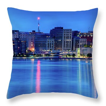 Madison Skyline Reflection Throw Pillow