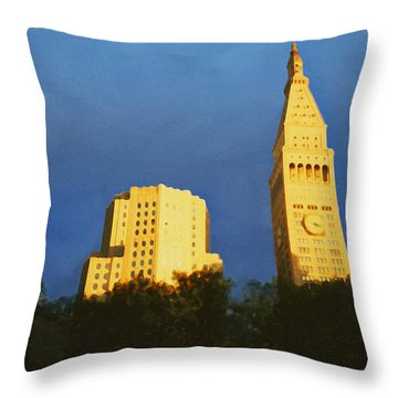 Madison Square Park Throw Pillow by David Klaboe