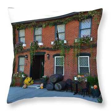 Madison Winery In Fall Throw Pillow