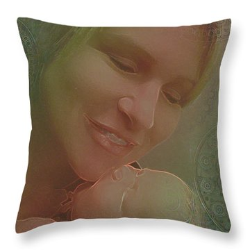 Madonna And Child 1 Throw Pillow