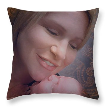 Madonna And Child 2 Throw Pillow
