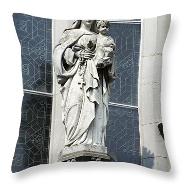 Madonna And Child Throw Pillow by Teresa Mucha