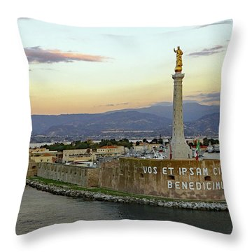 Madonna Della Lettera Throw Pillow