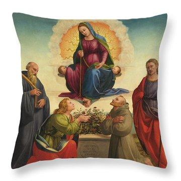Madonna Delle Cintola Throw Pillow