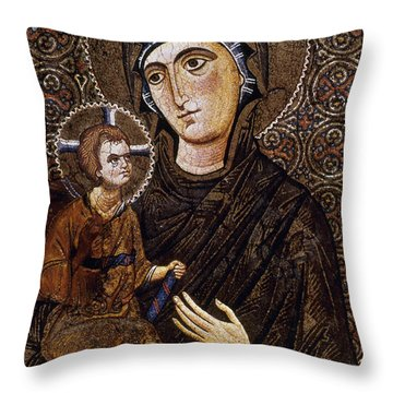 Madonna Icon Throw Pillow by Granger