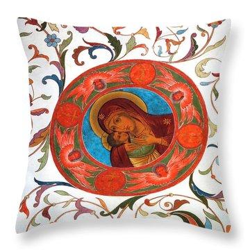 Madonna Throw Pillow by Julia Ivanovna Willhite