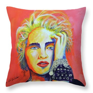 Madonna Throw Pillow