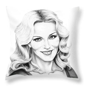 Madonna Throw Pillow by Murphy Elliott