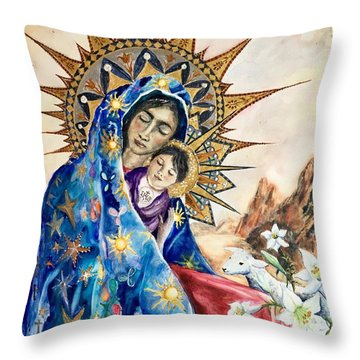 Madonna Of The Unescorted  Throw Pillow