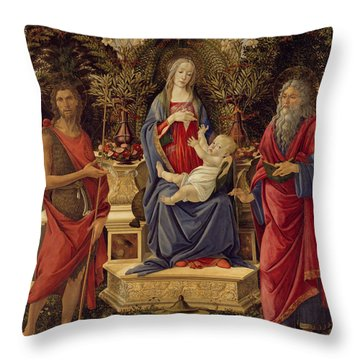 Madonna With Saints Throw Pillow