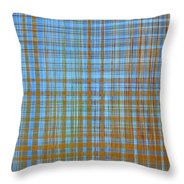 Madras Plaid Throw Pillow