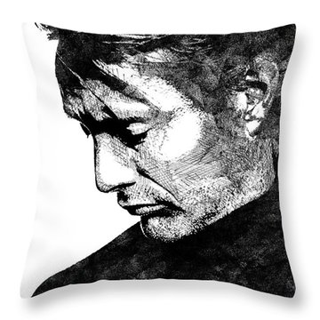 Mads Mikkelsen Throw Pillow by Mihaela Pater