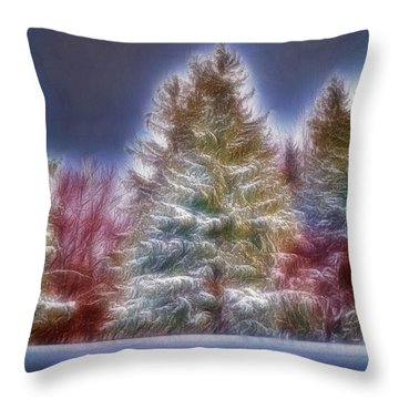 Merrry Christmas And Happy New Year Throw Pillow by Jim Lepard