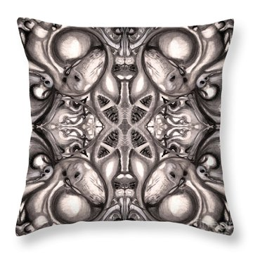 Throw Pillow featuring the drawing Maelstrom Variation 1 by Devin  Cogger