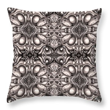 Throw Pillow featuring the drawing Maelstrom Variation 2 by Devin  Cogger