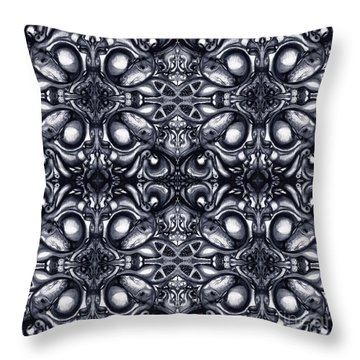 Throw Pillow featuring the drawing Maelstrom Variation 9 by Devin  Cogger