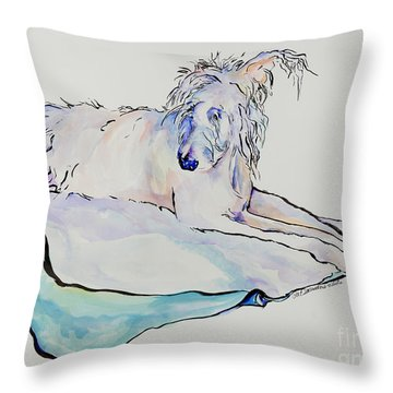 Maevis Throw Pillow by Pat Saunders-White