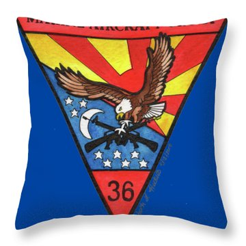 Mag-36 Patch Throw Pillow