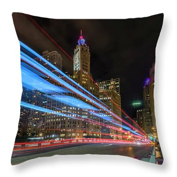 Throw Pillow featuring the photograph Mag Mile Warp Speed by Sean Foster