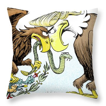 Maga Vs Mexico Throw Pillow