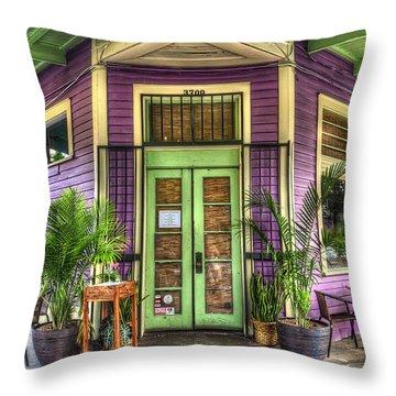 Magazine Street Resaurant Throw Pillow