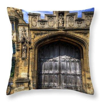 Magdalen College Door - Oxford Throw Pillow
