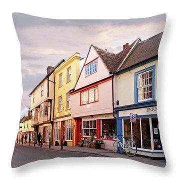 Throw Pillow featuring the photograph Magdalene Street Cambridge by Gill Billington