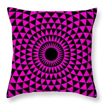 Throw Pillow featuring the digital art Magenta Balance by Lucia Sirna