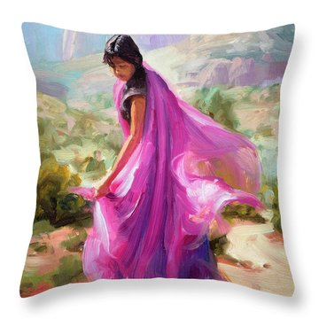 Magenta In Zion Throw Pillow