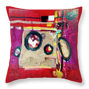 Magenta Minute Throw Pillow