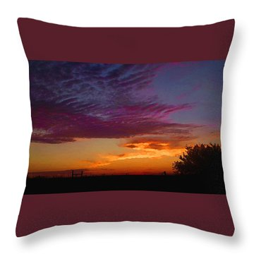 Magenta Morning Sky Throw Pillow