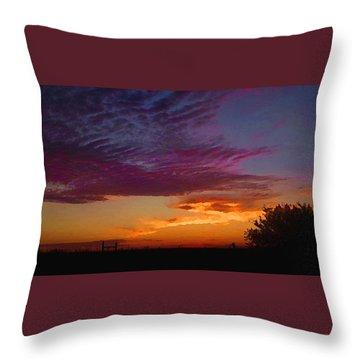 Magenta Morning Sky Throw Pillow