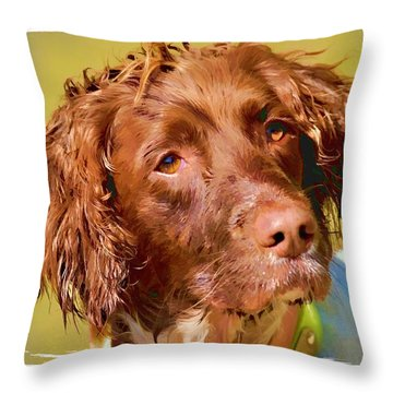 Maggie Head 3 Throw Pillow by Constantine Gregory