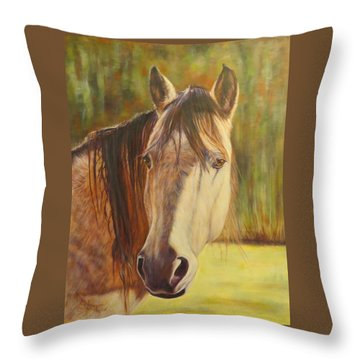 Maggie, Horse Portrait Throw Pillow