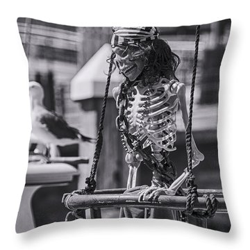 Maggie May And Cedric The Seagull Throw Pillow