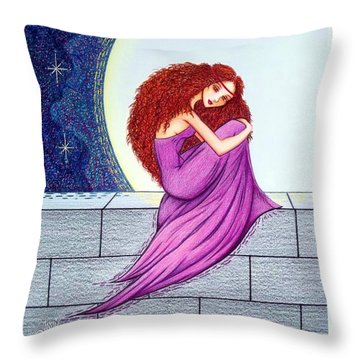 Maggie's Lullaby Throw Pillow by Danielle R T Haney