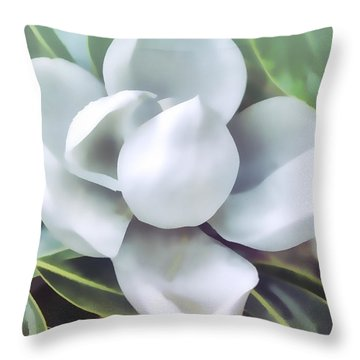 Magnolia Opening 2 Throw Pillow