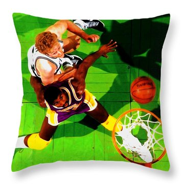 Magic And Bird Throw Pillow by Brian Reaves
