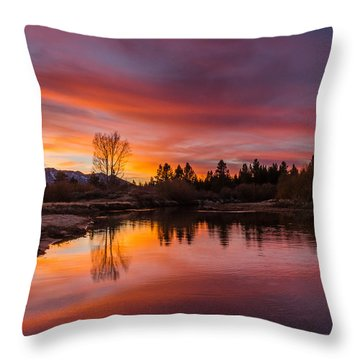 Magic Blue Hour At Lake Tahoe Throw Pillow