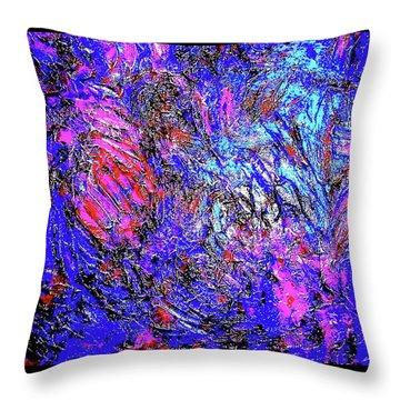 Magic Blue Throw Pillow