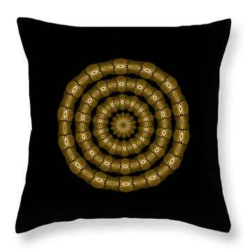 Magic Brass Rings Throw Pillow