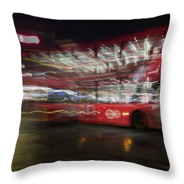 Throw Pillow featuring the photograph Magic Bus by Alex Lapidus