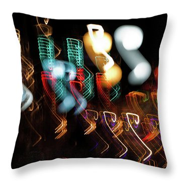 Magic Color Throw Pillow