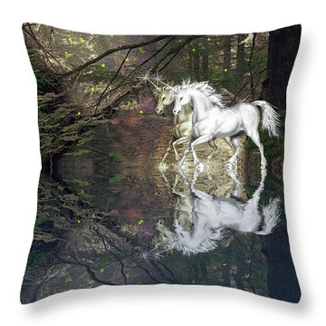 Magic Throw Pillow by Diane Schuster