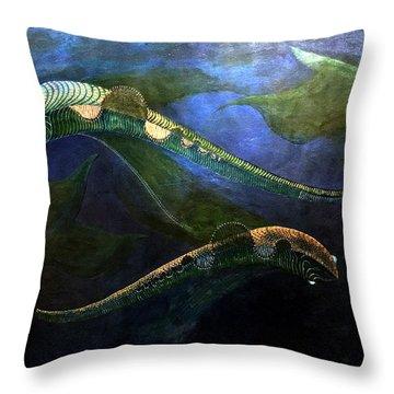 Magic Fish Throw Pillow