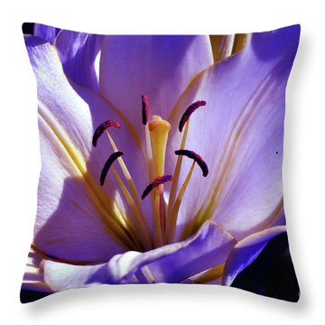 Magic Floral Poetry Throw Pillow