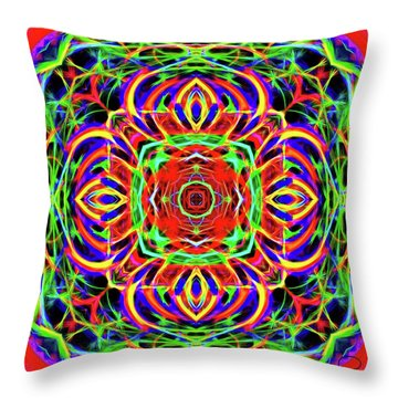Magic Gate Throw Pillow by Ludwig Keck