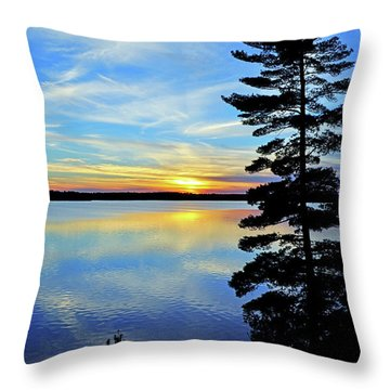 Magic Hour Throw Pillow by Keith Armstrong