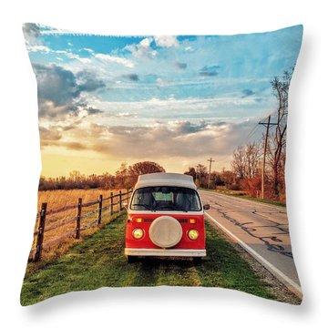 Magic Hour Magic Bus Throw Pillow